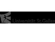 Logo der Universität St. Gallen. Graustufen